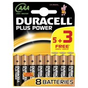DURACELL AAA 5 + 3 PACK