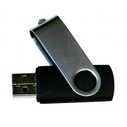 BLACK SWIVEL TOP FLASH DRIVE 512MB